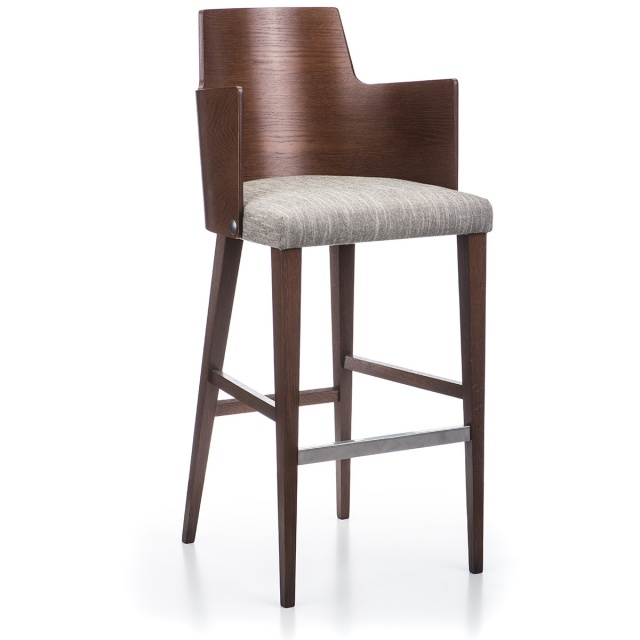 LUX GRANDE WOOD bar armchair