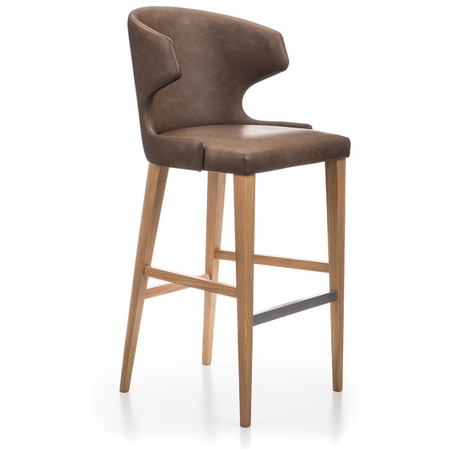 LOTUS GRANDE bar stool with armrests